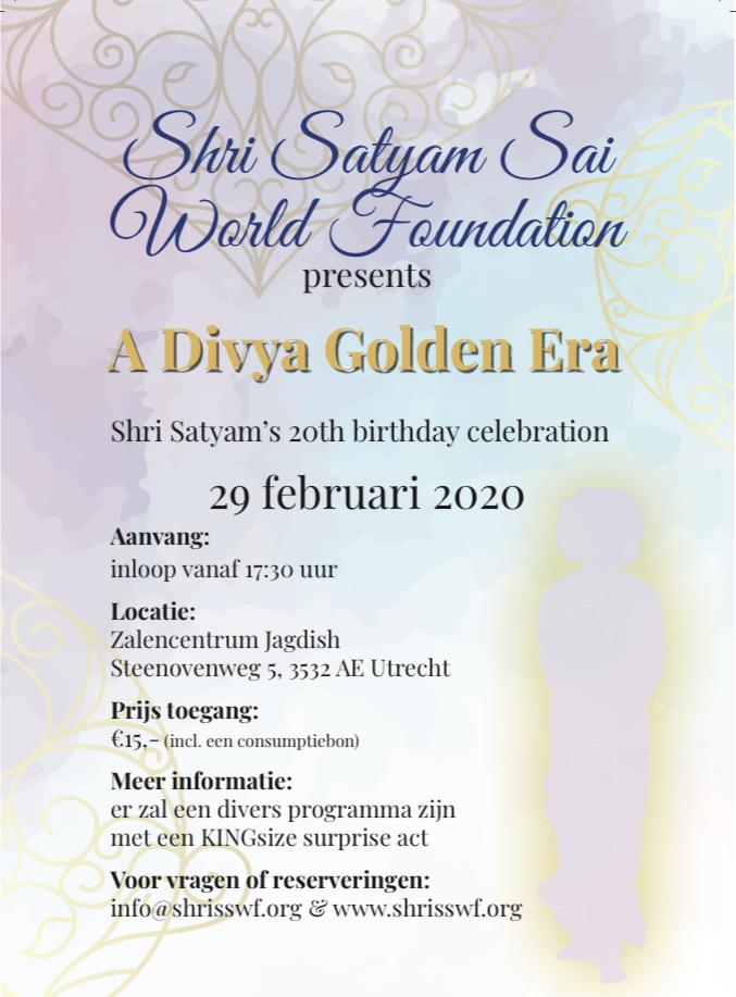 Shri Satyam's 20th Birthday Celebration