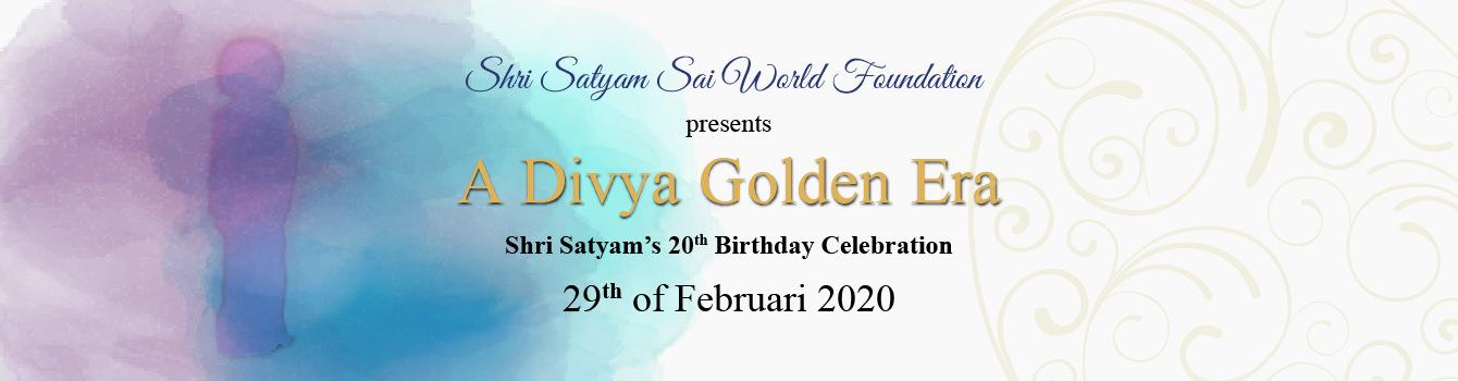 Shri Satyam's 20e verjaardagsviering
