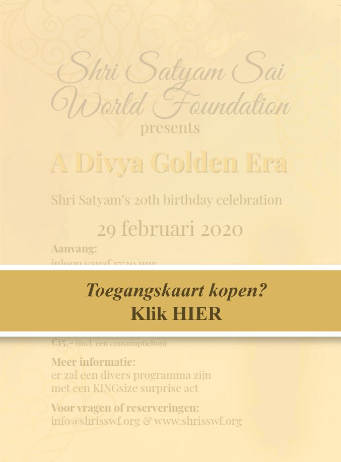Online tickets kopen voor Shri Satyam's 20e verjaardagsviering